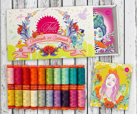 "Tula Pink x Aurifil ""Curiouser & Curiouser"" Thread Collection"