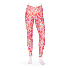 Frog Peony Tiled Queen West Leggings