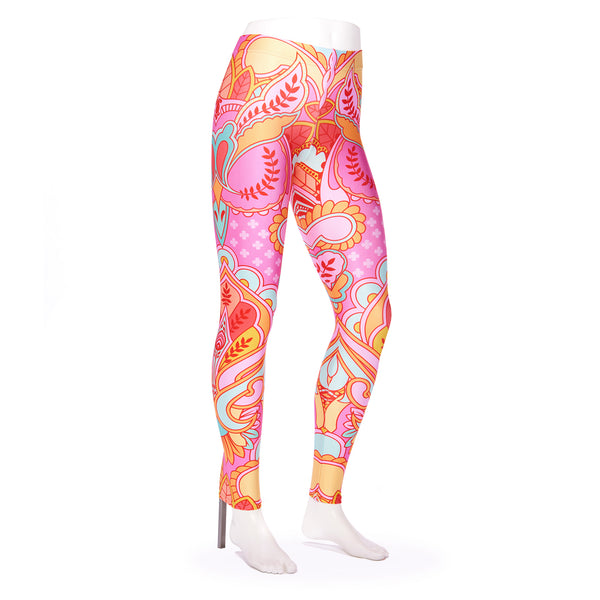 Owl Peony Queen West Leggings