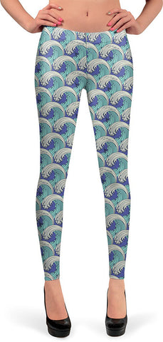 Stormy Sea Queen West Leggings