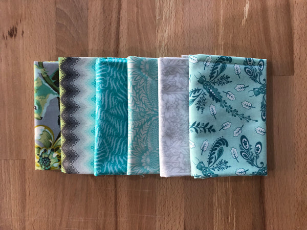OMG Fat Quarter Bundle - Mint/Silver