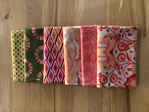 OMG Fat Quarter Bundle - Coral Octopus