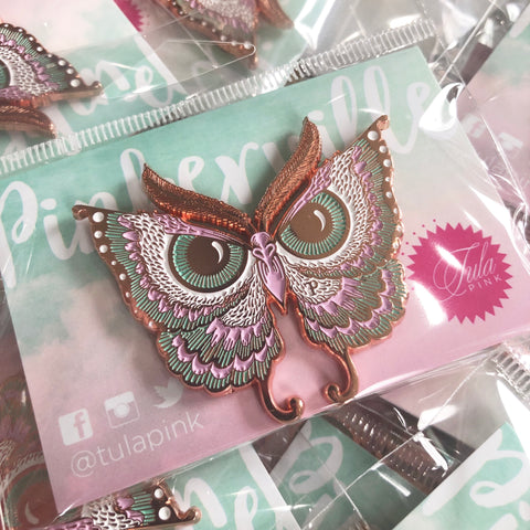 "Pinkerville Rose Gold ""Enlightenment Owl"" Pin"