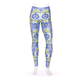 Frog Orchid Tiled Kid's Leggings