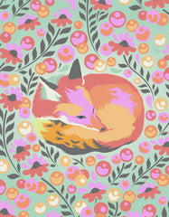 "56"" x 72"" Tula Pink Chipper Fox Nap Quilt Backing - Sorbet"