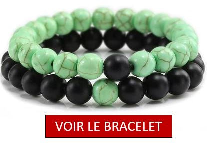 bracelet couple perle