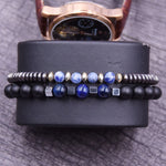 Bracelet Couple Marginal Bleu