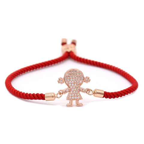 Bracelet Couple Cordon L'Amour Rouge
