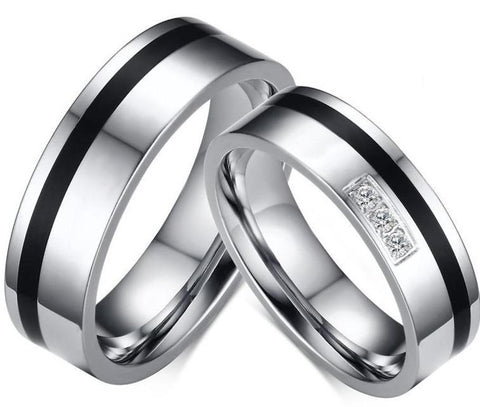Bague Couple Bicolores | Concept Couple