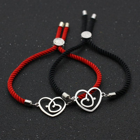 Bracelet Couple Cordon Attachement | Concept Couple