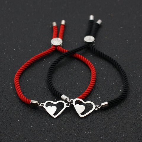 Bracelet Couple Cordon Double Amour | Concept Couple