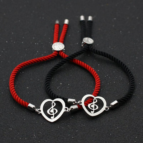 Bracelet Couple Cordon Musicien | Concept Couple