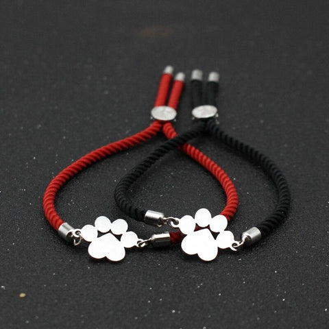 Bracelet Couple Cordon Patte D'Ours | Concept Couple