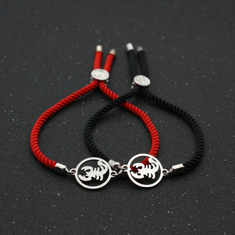 Bracelet Couple Cordon Scorpion | Concept Couple