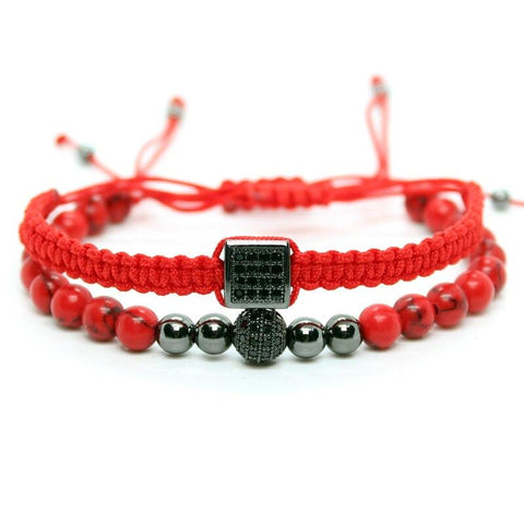 Bracelet Couple Distance Prestige Rouge | Concept Couple