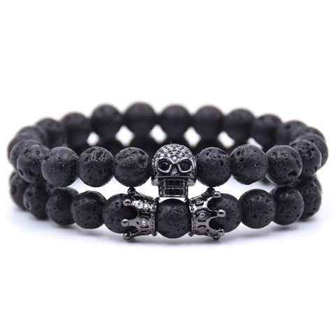 Bracelet Couple Distance Skull Mat | Concept Couple