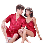 Ensemble Pyjama Couple Classe Satin | Concept Couple