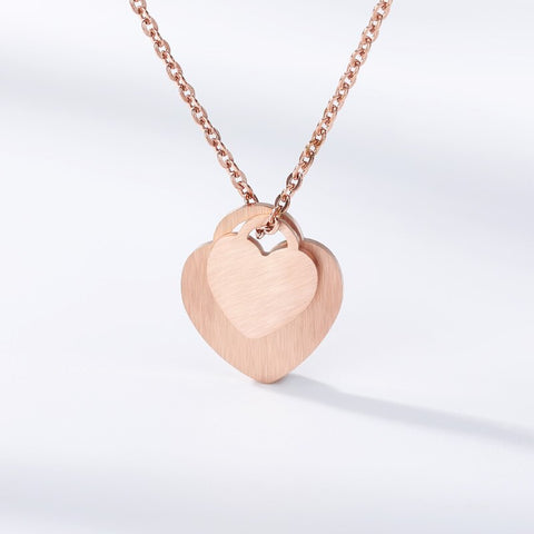 collier commun couple or rose