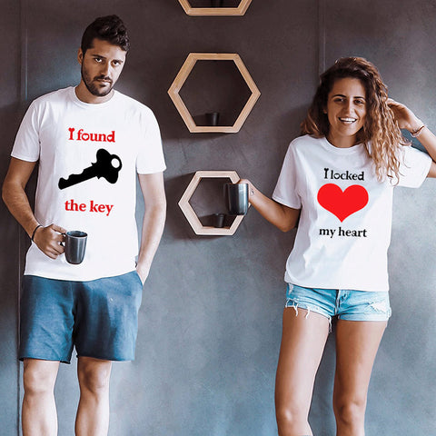 T-Shirt Couple Cadenas
