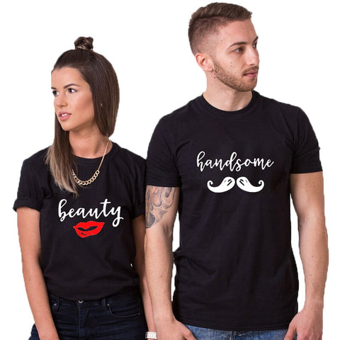 T-Shirt Couple Decontracté