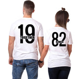 T-shirt Couple 1982 Blanc | Concept Couple