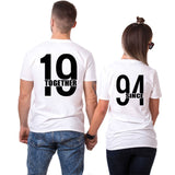 T-shirt Couple 1994 Blanc | Concept Couple