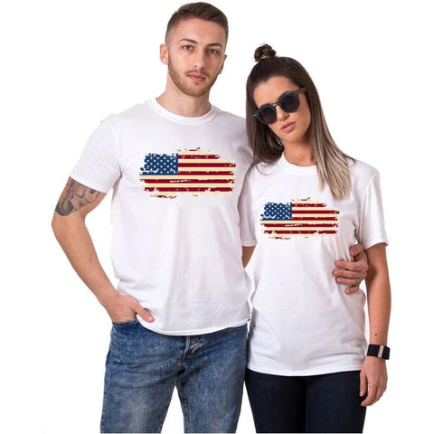 T-shirt Couple Etats-Unis | Concept Couple