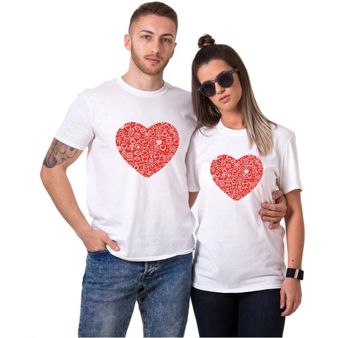 T-shirt Couple Cœur | Concept Couple