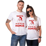 T-shirt duo blanc Santa Monica | Concept Couple