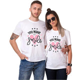 T-shirt Couple Sourire | Concept Couple