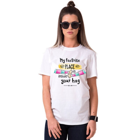 T-shirt Couple Calin femme