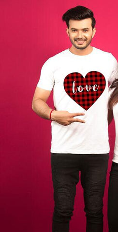 T-Shirt Couple Damier homme