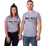 T-shirt Couple Parents dup gris