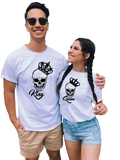 T-Shirt Couple Roi Squelette | Concept Couple