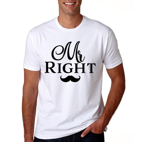 T-Shirt Couple Monsieur Moustache homme