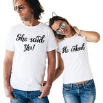 T-Shirt Couple Requête | Concept Couple