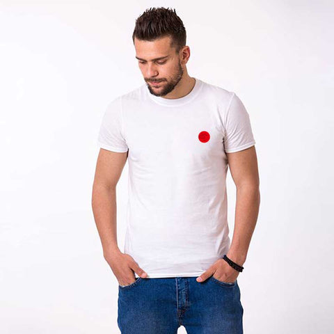T-Shirt Couple Rouge blanc homme