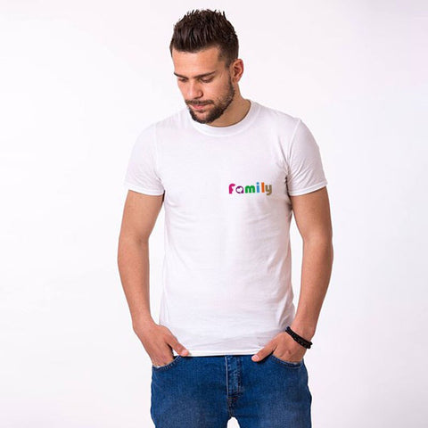 T-Shirt Couple Famille blanc homme