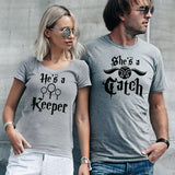 T-Shirt Couple Gardien de son Coeur