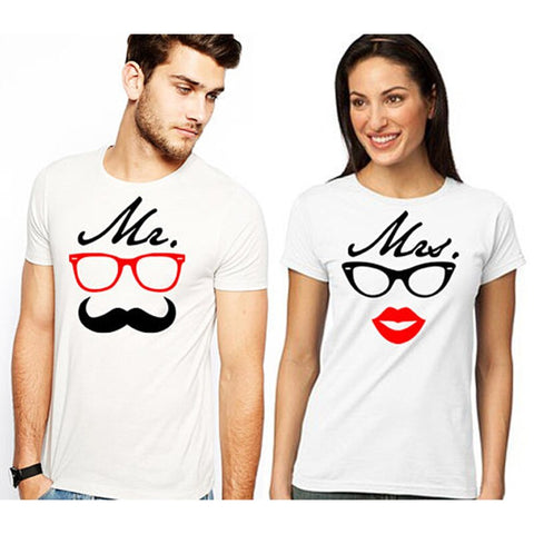T-Shirt Couple Moustache