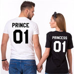 T shirt couple prince princesse