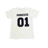 T shirt couple princesse blanc