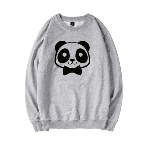 Pull Couple Animaux gris