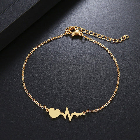 Bracelet Battement de Coeur Couple or