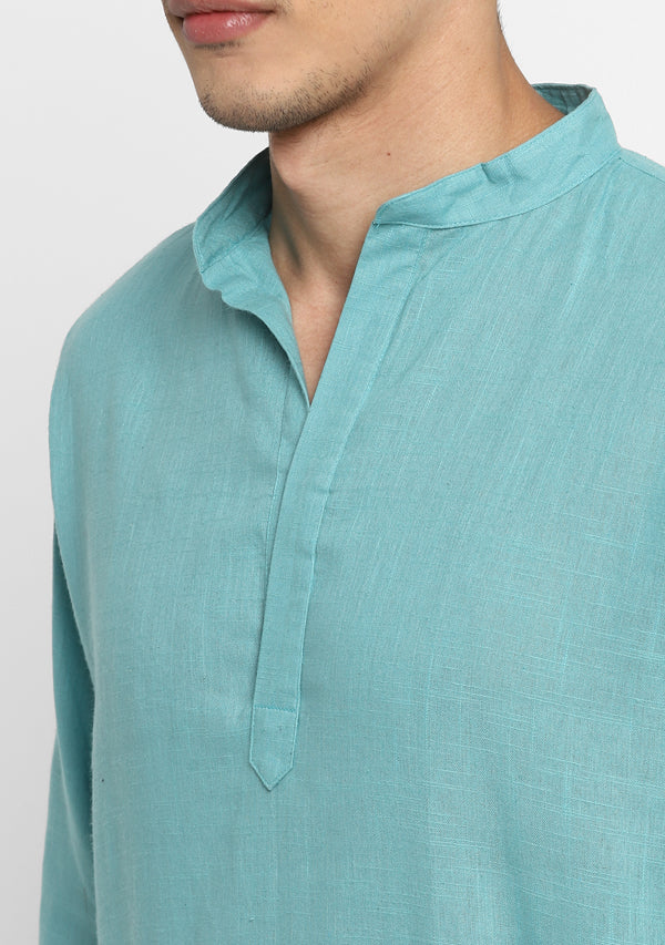 Aqua Cotton Shirt and Pyjamas For Men