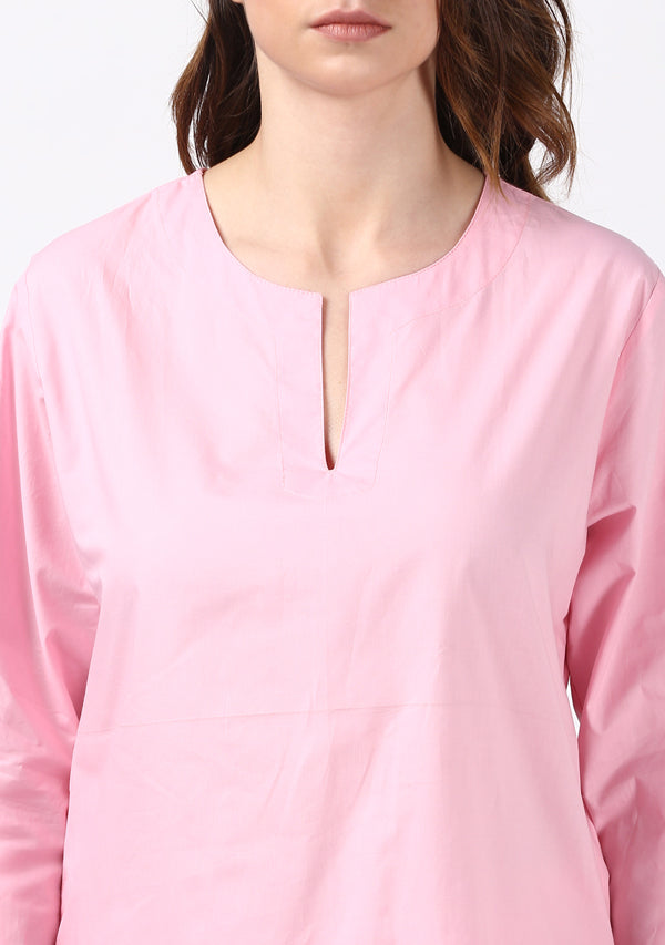 Pink Cotton Night Suit