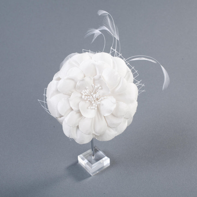 The Eleanora Silk Bridal Headpiece/Brooch by Love Charlie