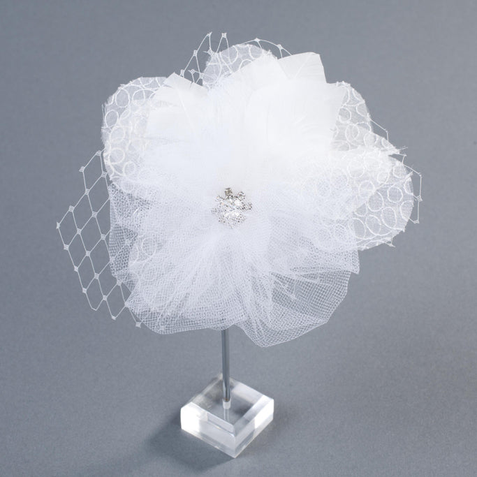 The Belle Silk Flower Bridal Headpiecebrooch By Love Charlie Love