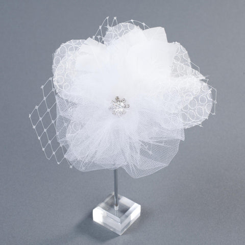 The Belle Silk Flower Bridal Headpiece/Brooch by Love Charlie