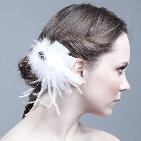 The Josephine, Canadian Crystal Brooch Headpiece by Love Charlie